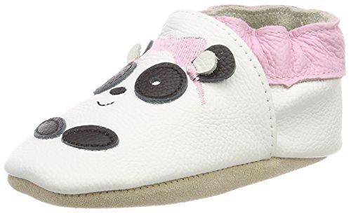 Rose & Chocolat Pretty Panda White, Chaussons D'Intérieur Bébé Fille
