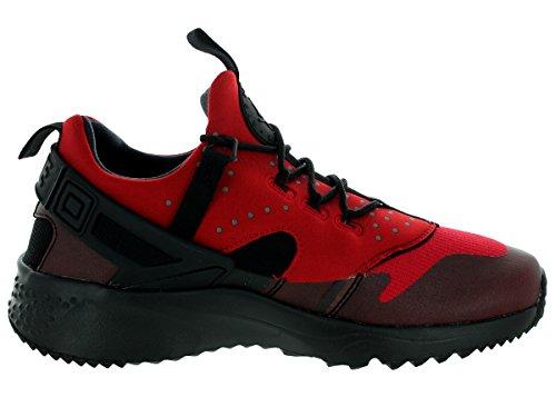 Nike Air Huarache Utility, Baskets Basses Homme, Noir (Schwarz), 44 EU Rouge / noir (rouge gymnase / noir)