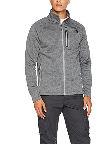 n Canyonlands Jacke mit Reißverschluss Hike, Tnf Medium Grey Heather, L (Grau North Face Herren Jacke)