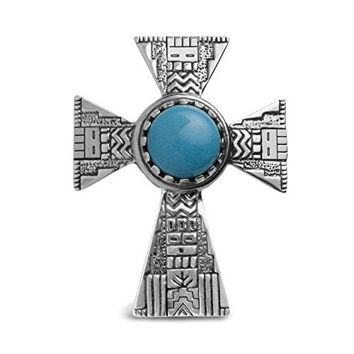 roderick-tenorio-sterling-silver-blue-turquoise-cross-pendant-enhancer