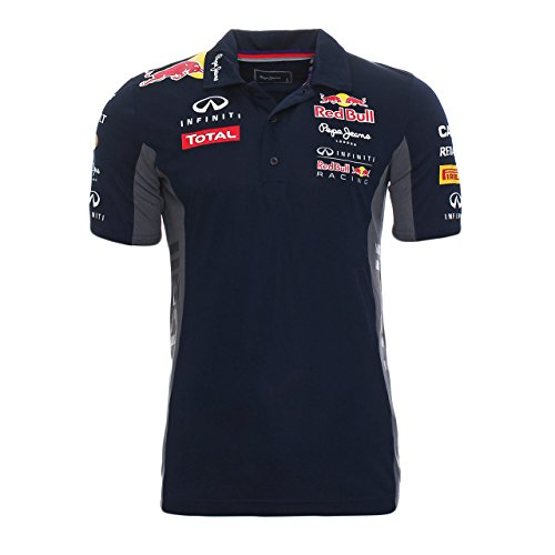 Pepe Red Bull Racing Collection OTL SS Functional Men-Polo Uomo    Blu (Navy) Small