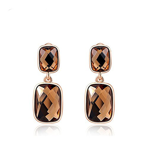 Swall owuk orecchini gioielli arancione punta doppia rettangolare orecchini