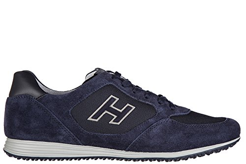 hogan-scarpe-sneakers-uomo-camoscio-nuove-h205-olympia-x-h-flock-blu-eu-415-hxm2050u670fk83694
