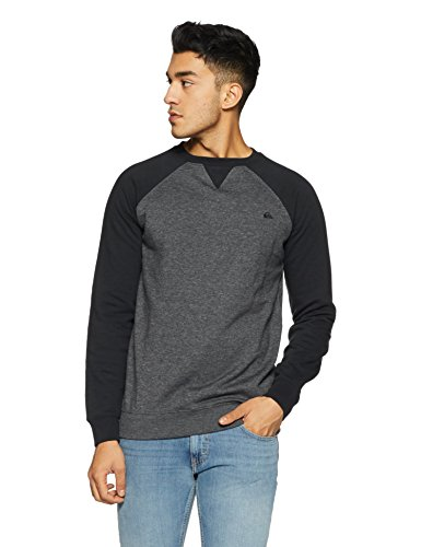 Quiksilver Herren Fleece Top Everyday Crew M OTLR Sweatshirts, Grau (Dark Grey Heather Ktfh), Medium