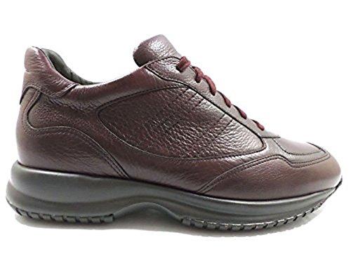 scarpe uomo SANTONI 44,5 sneakers bordeaux pelle AZ305