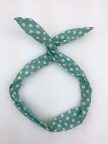 Lizzy® Rockabilly-Haarband, mit Draht, verschiedene Designs Gr. Einheitsgröße, Polka Dot Mint