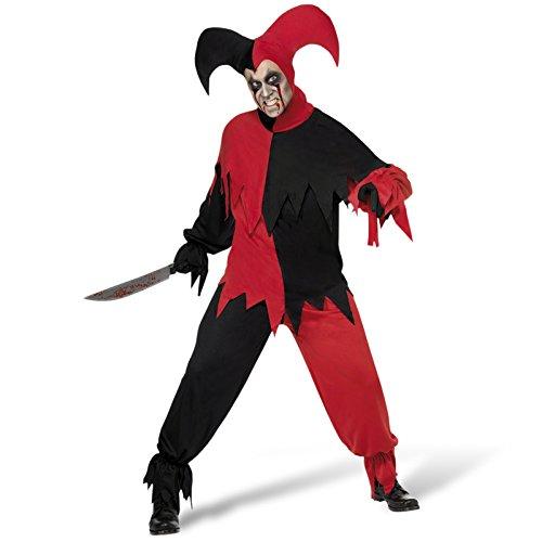 Böser Clown Halloween Kostüm Harlekin L 52/54 Clownkostüm Halloweenkostüm Clownskostüm Horrorclown