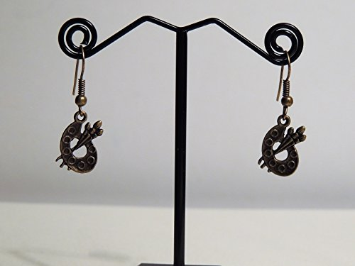 boucles-doreilles-breloques-de-couleur-bronze-antique-representant-des-palettes-de-peintres