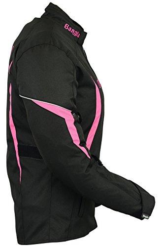 B-101 Bangla Sportliche Damen Motorrad Jacke Textil Schwarz-pink XL - 3