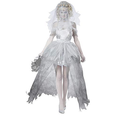 CAGYMJ Cosplay Dress Party Ropa De Mujer,Sexy Diablo Vampiro Novia Corta Vestido Traje,Pascua Disfraces De Halloween Fiestas Falda,XL