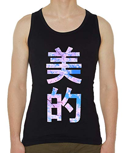 caa41c4f Iprints Sakura Tree Vaporwave Trees Tokyo Japan Negro Men's Tank Top T-Shirt  S