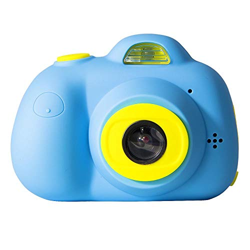 PIANAI DIY Kamera für Kinder mit Aufkleber Digital Kamera Mini Kids Camera Kinderkamera inkl.USB Kabel,Blue