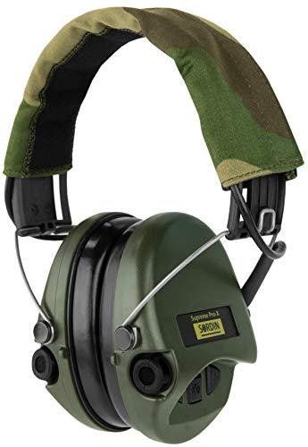 Sordin Supreme PRO X - Aktiver Gehörschutz SOR75302-X Elektronischer Gehörschützer Camo-Band Grüne Cups