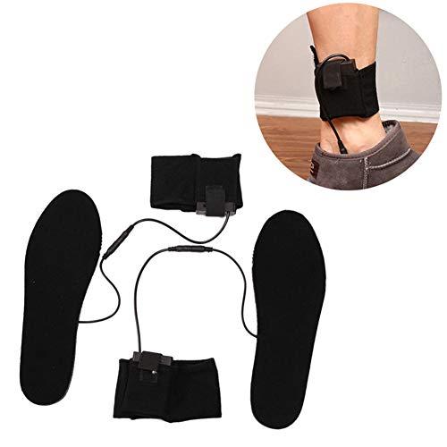 AchidistviQ-1 - Par de plantillas para zapatos calefactadas con pilas, para invierno, botas de invierno, pies calientes, tamaño 33-35 multicolor multicolor 40-44 Size