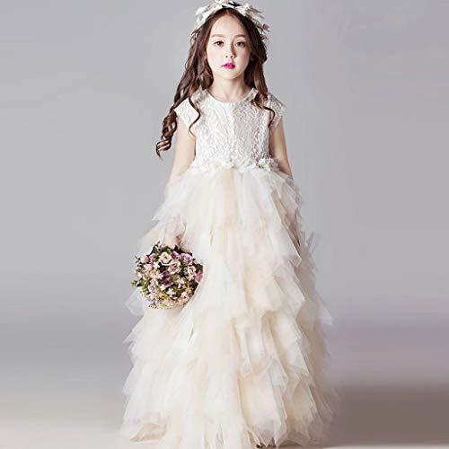 �schen Kleider Für Blumenmädchen Elegante Kurzarm Bodenlangen Brautkleider Für Kinder Party Leistung Feriengebrauch, Geburtstagsgeschenk 150cm ()