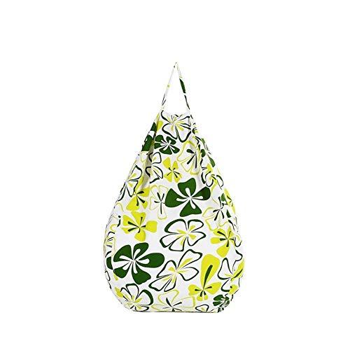 JGWJJ Stuffed Animal Storage Bean Bag Chair - Plüschtier-Organizer für Kinder, Mädchen und Kinder | Extra großer YKK-Reißverschluss | Premium Baumwollleinwand (Farbe : Grün) (Bean Bag Chair Grün)