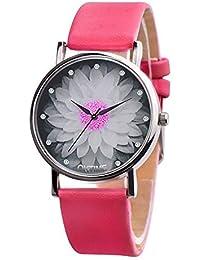 SSITG Reloj Mujer Reloj Estudiantes Reloj Reloj DE Pulsera Cuarzo Reloj analógico Reloj patrón de Loto