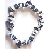 Lapis Lazuli & Regenbogen Mondstein Chip Perle Heilstein Armband preisvergleich bei billige-tabletten.eu