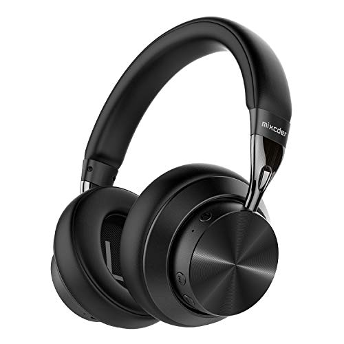 Mixcder E10 Casque Bluetooth 5.0 à Réduction Active de Bruit Over-Ear Audio Stéréo Pliable Écouteurs Circum Auriculaire ANC sans Fil avec Microphone, aptX et Charge Rapide, 30h de Jeu - Noir