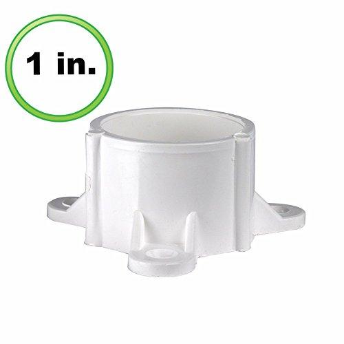 Tischkappe aus PVC, 2,5 cm, Weiß (Schedule Pvc-rohr 40)
