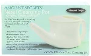 Ancient Secrets Pot neti en céramique pour le rinçage des voies nasales