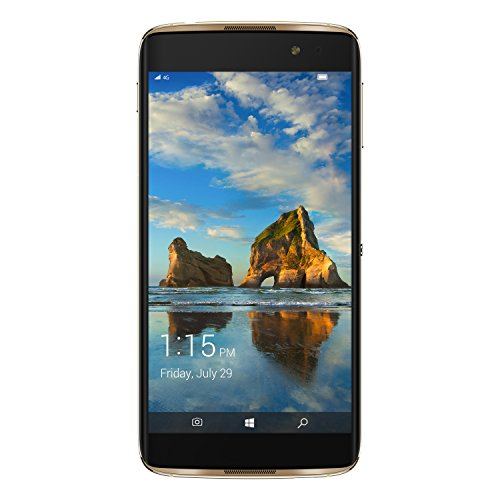 Alcatel 6077X-2BALWE7 13,97 cm (5,5 Zoll) Idol 4 Pro Smartphone (21MP Kamera, 64GB Speicher, Win Continuum) Gold