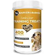 Barker and Barker Low Fat Dog Training Treats 400 Little Liver Treats pot