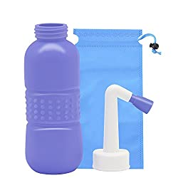 Portable Travel Bidet, Personal Bidet Sprayer for Kids Ass Washing,Pregnant Women Cleansing, Postpartum Clean, Handheld Travel Bidet with 450ML Water Capacity and Angled Nozzle Spray