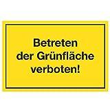 Wandkings Hinweisschild - Betreten der Grünfläche verboten! - stabile Aluminium Verbundplatte - Wähle eine Größe - 30x20 cm