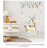 Stickers muraux personnalité plume cerf baiser sticker mural décoration romantique chambre détachable pvc