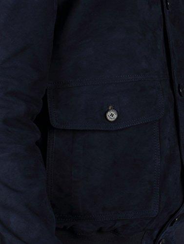 TORRAS Herren Bomberjacke Oxford Blau