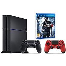 Pack PS4 500Go + 2ème manette rouge + Uncharted 4: A Thief's End