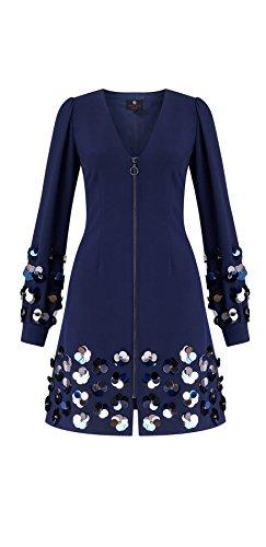 Vienna Short Sequin Zip Dress