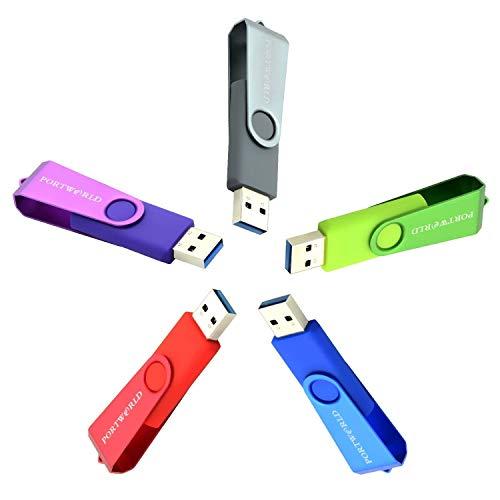 Thumb Drive 3.0 USB-Speicherstick, 32 GB, 5 Stück
