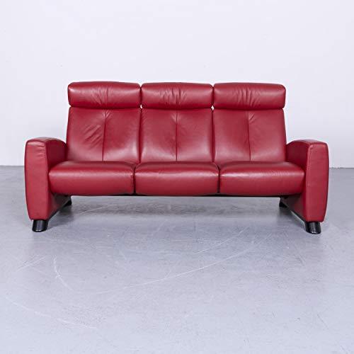 Stressless Designer Leder Sofa Rot Echtleder Zweisitzer Couch Relax #6518