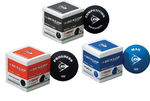 Dunlop Squashset: 2x Squashschläger BIOTEC LITE TI SILVER DELUXE + 2x Schlägerhülle + 3 hochwertige Bälle - 4