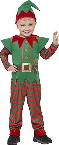Smiffys 21489T2 - Kinder Unisex Elfen Kostüm, Alter -