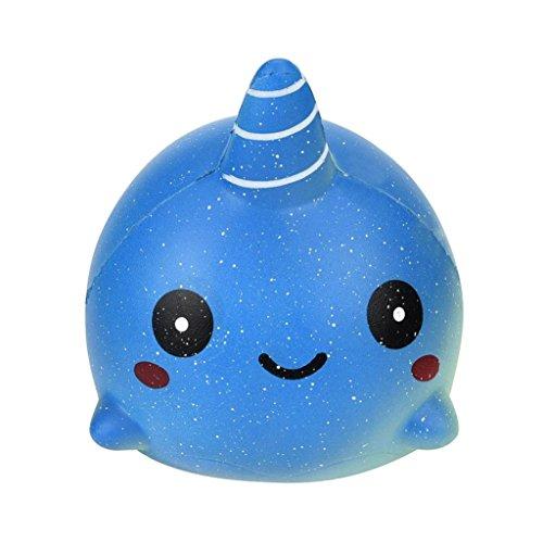Leuchtmittel Charme (VENMO Vorzüglicher Spaß großer Wal duftender Squishy Charme langsames steigendes 12cm Simulations-Spielzeug Squeeze Spielzeug Tier Dekompression Spielzeug Ostern Geschenke für Kinder (BLUE))