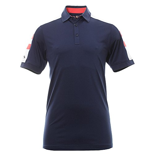 Mens Performance Golf Shirt (NEW 2017 Callaway Contrast Shoulder Block Opti-Dri Performance Mens Golf Polo Shirt Peacot Medium)