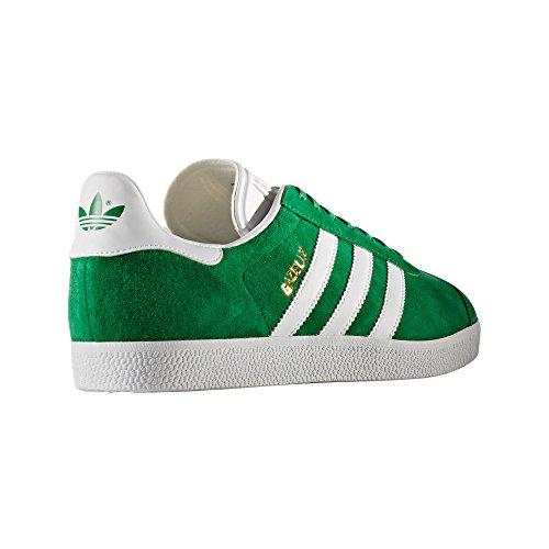 Adidas Gazelle .Nobuk Sneaker, Trainer, Tenis. Green/White/Gold Metallic