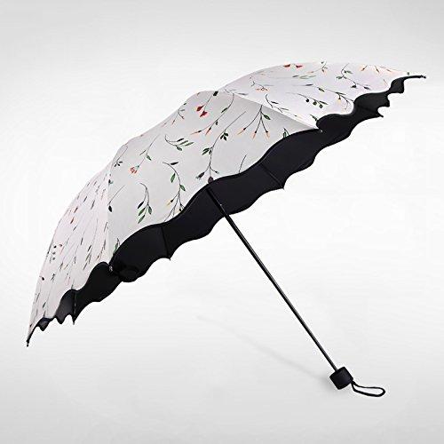 Sasan Antilope sonnige Dach frische Kunst Wind Falten sonnigen Regenschirm schwarz Klebstoff...