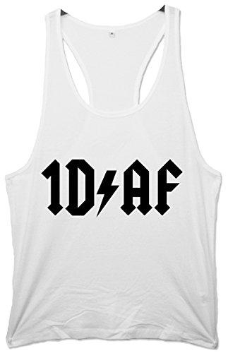 One Direction di F *ck AC/DC Men's Maglietta Racerback-Canottiera da ginnastica, da uomo bianco XL