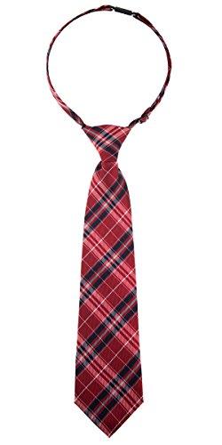 Elegante pajarita Retreez a cuadros, de microfibra tejida, corbatas preanudadas para chicos Rojo Red and Navy Blue 4 - 7 Años
