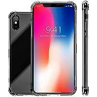 tebaise de de amortiguación Clara TPU Cuatro Esquinas Fallen Caso de Protectora para iPhone XS 5,8Pulgadas