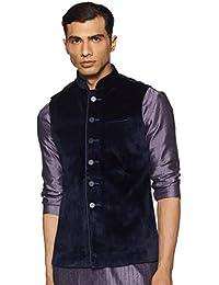 Manyavar Men's Art Silk Waist Coat