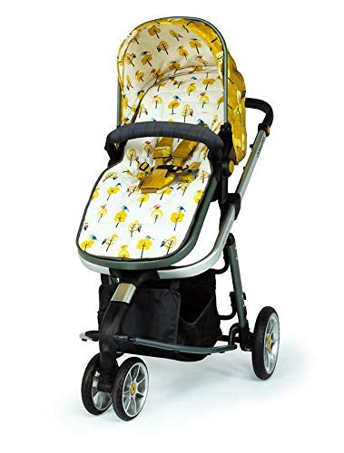 Cosatto Giggle 3 Travel System in Spot The Birdie with Car Seat Base Bag footmuff & Raincover Cosatto Easily transforms to be used with carrycot, pushchair seat and matching Cosatto group 0+ car seat (included). Compact, easy fold. Lightweight aluminium chassis. All-round suspension for a smooth ride. Quick-release removable premium wheels. 6