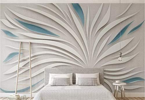 Wemall wallpaper 3d stereo wandbild abstrakte blütenblätter glas tuch mosaik wohnzimmer hintergrund, 300x210 cm -