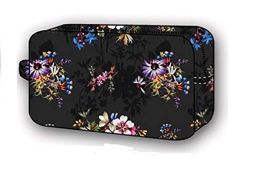 V&a lp70873 Trousse à Maquillage Mixte Adulte - Noir - Schwarz mit Blumenmuster,