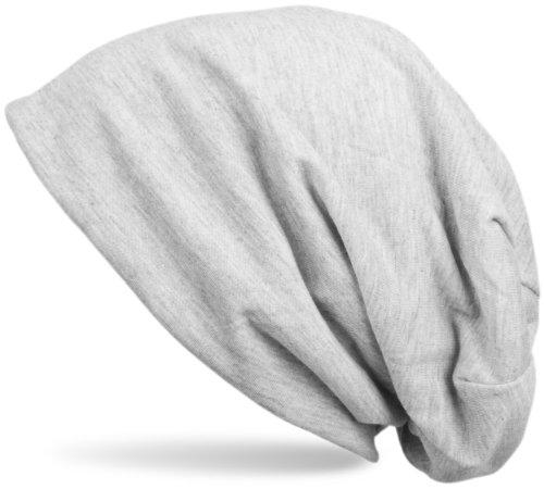 styleBREAKER klassische Slouch Beanie Mütze, leicht, Unisex 04024018, Farbe:Hellgrau meliert