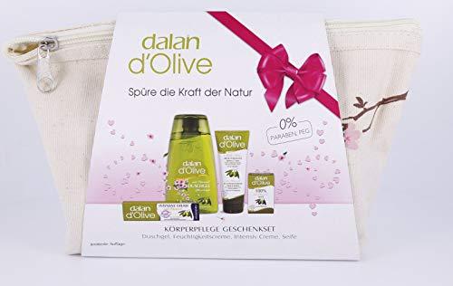 Dalan Körperpflegeset 4 Teile Duschgel Handcreme Körpercreme Intensiv Creme Olivenölseife